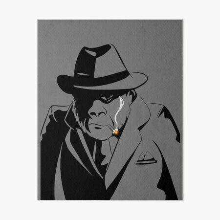 Gorilla Gangster clear space Art Board Print