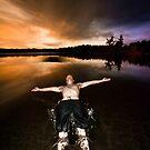 Jasper Lake Trust Fall by Josh Dayton