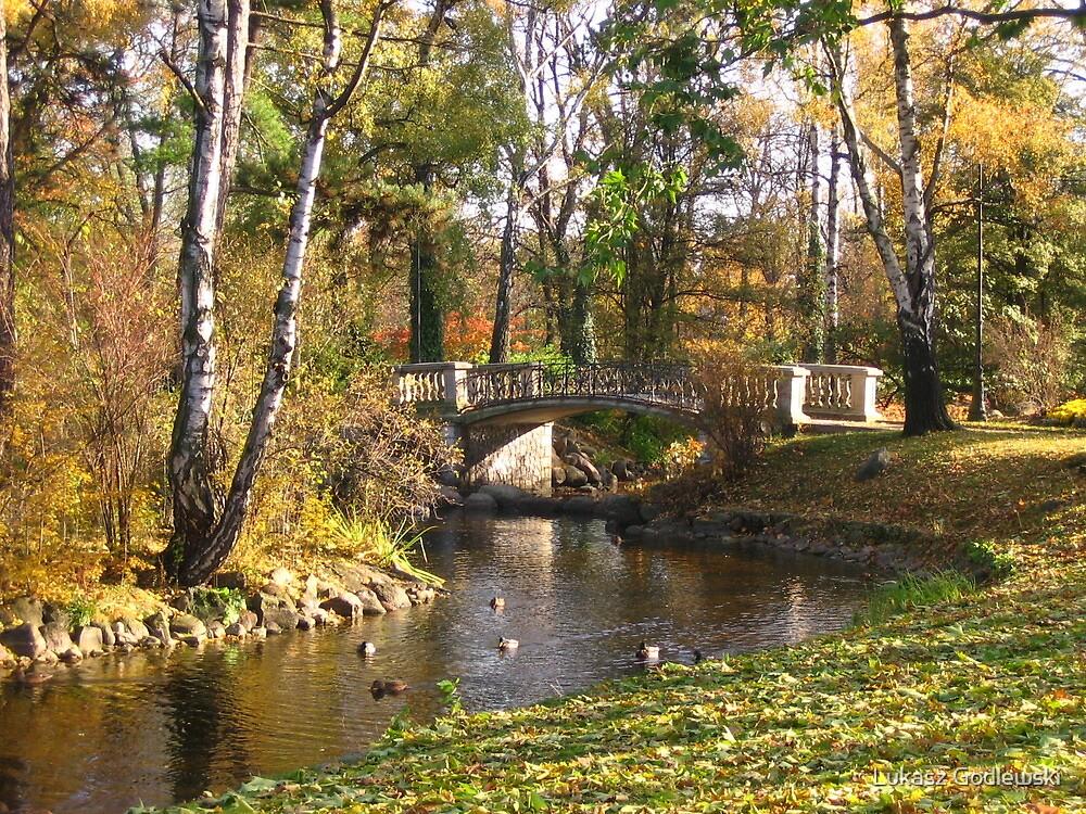 Autumn in Ujazdowski Park in Warsaw by Lukasz Godlewski