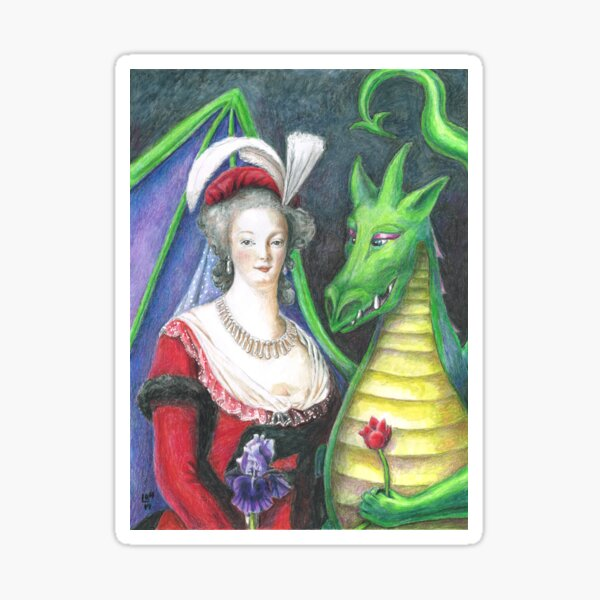 Marie Antoinette and the Dragon Sticker