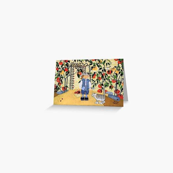 """Brandywine Tomatoes"" greeting card Greeting Card"