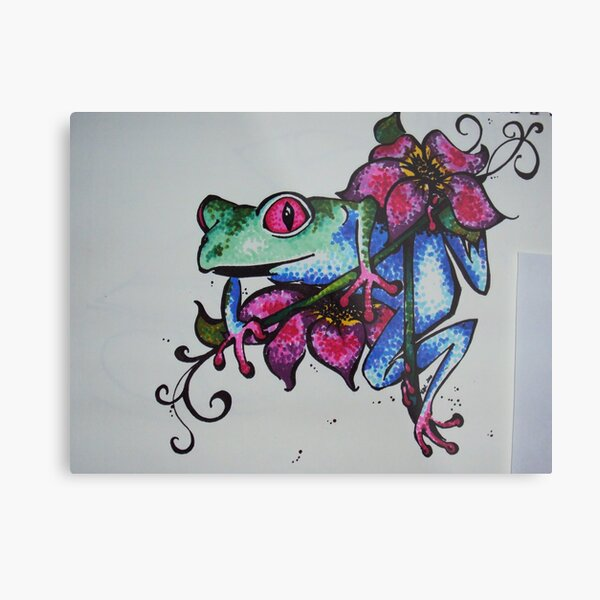 Frog of All Colors Metal Print