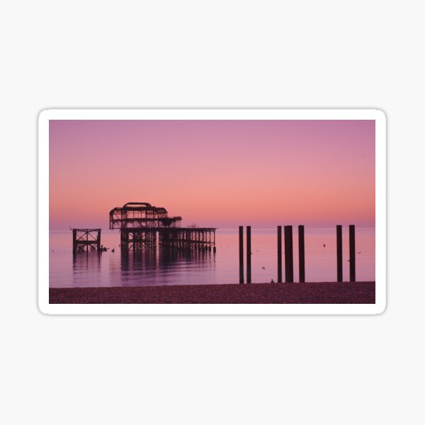 The solitary pier Sticker