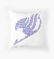 Fairy Tail Text Art - White Throw Pillow