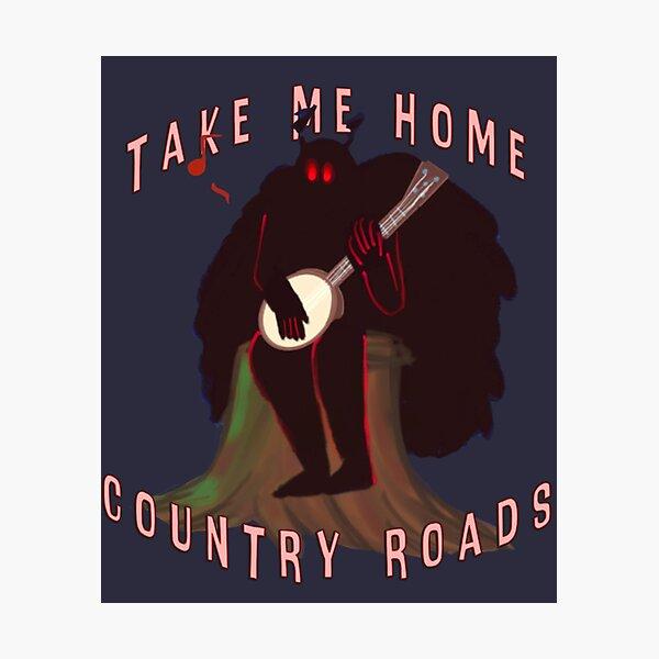 Mothman, Country Roads (but like he has a Banjo) Photographic Print
