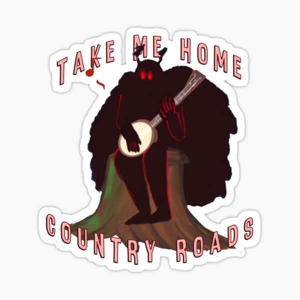Mothman, Country Roads (but like he has a Banjo) Sticker