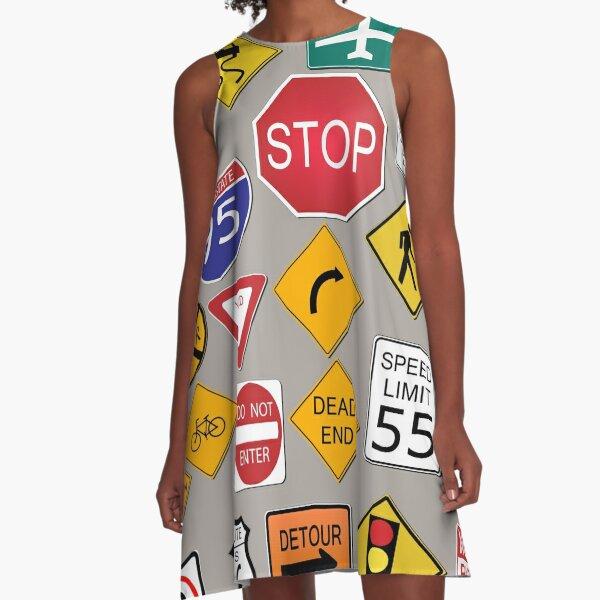 Street Signs A-Line Dress