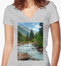 Krimmler Ache Women's Fitted V-Neck T-Shirt