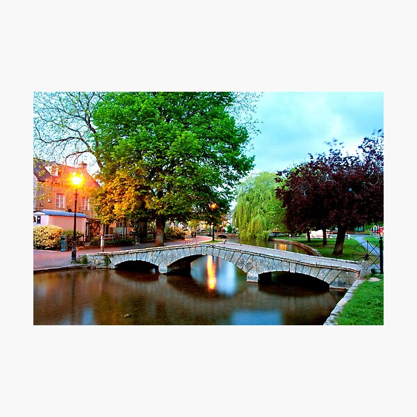 Bourton on the Water Cotswolds Gloucestershire Photographic Print