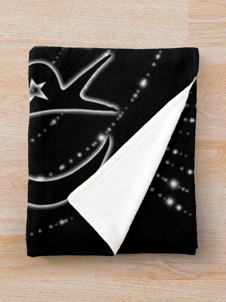 Alternate view of Star Creature - White Throw Blanket