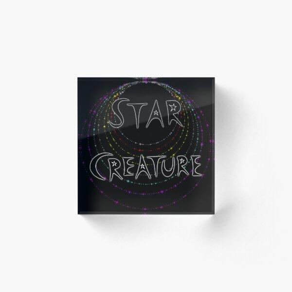 Star Creature - Rainbow (dark) Acrylic Block