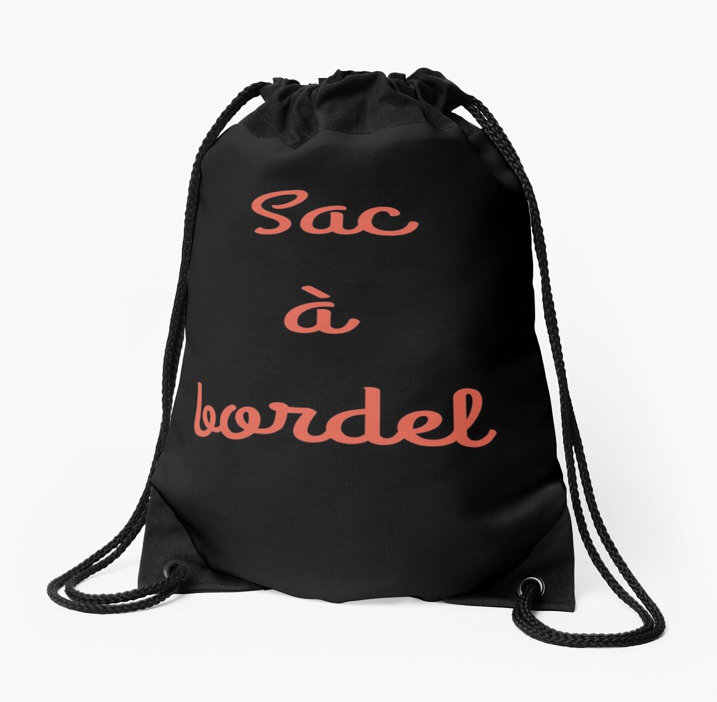 Cadeau Rigolo Baby Shower 'sac a bordel sac rigolo nounou prof parent maman cadeau' drawstring bag maeva draws
