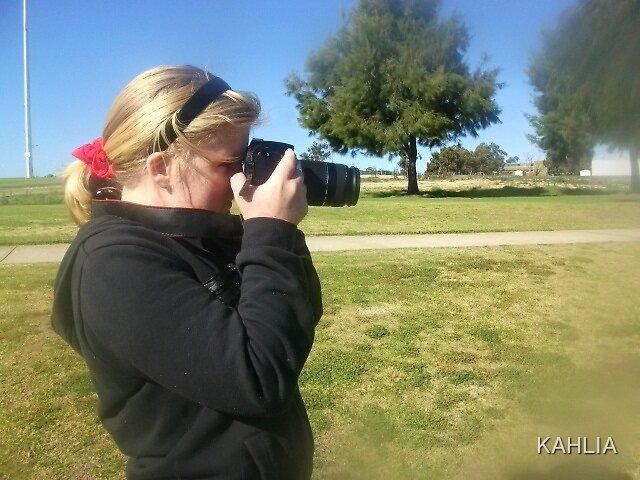 Taking photos by KAHLIA