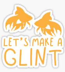 Let's make a GLINT goldfish (Collective Noun Group of goldfishes) Sticker