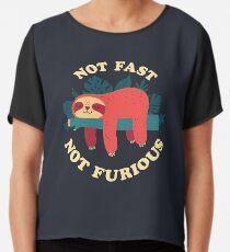 Not Fast, Not Furious Chiffon Top