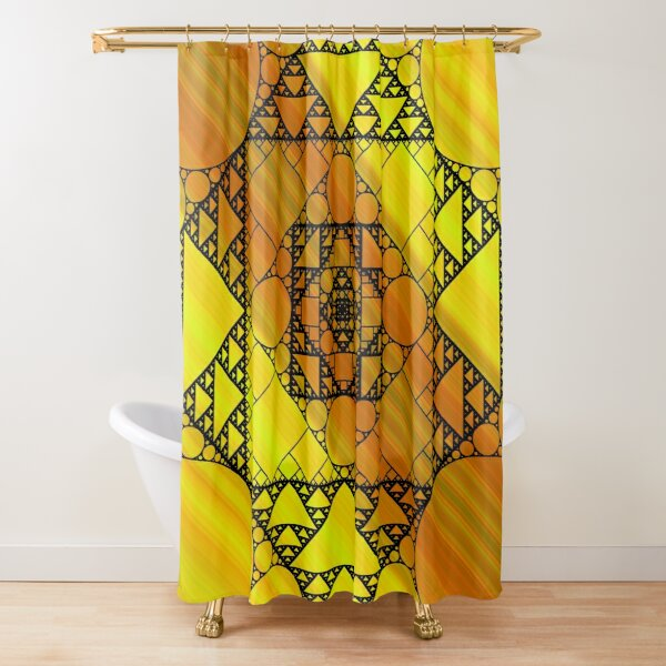 Fractal Geometry Shower Curtain