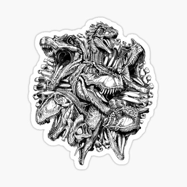 Carnivores (B/W) Sticker