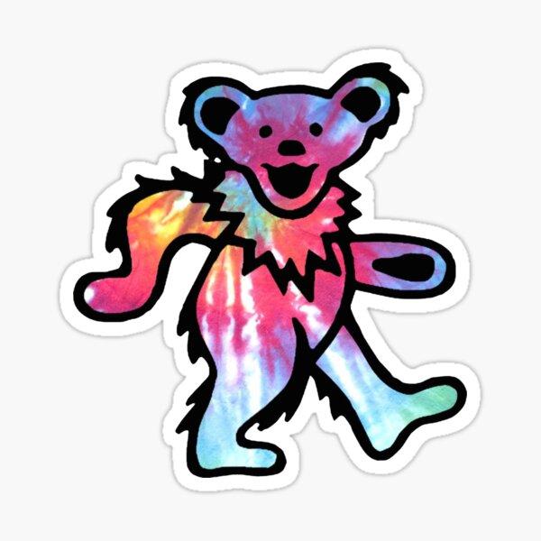 Tie Dye Bear Sticker
