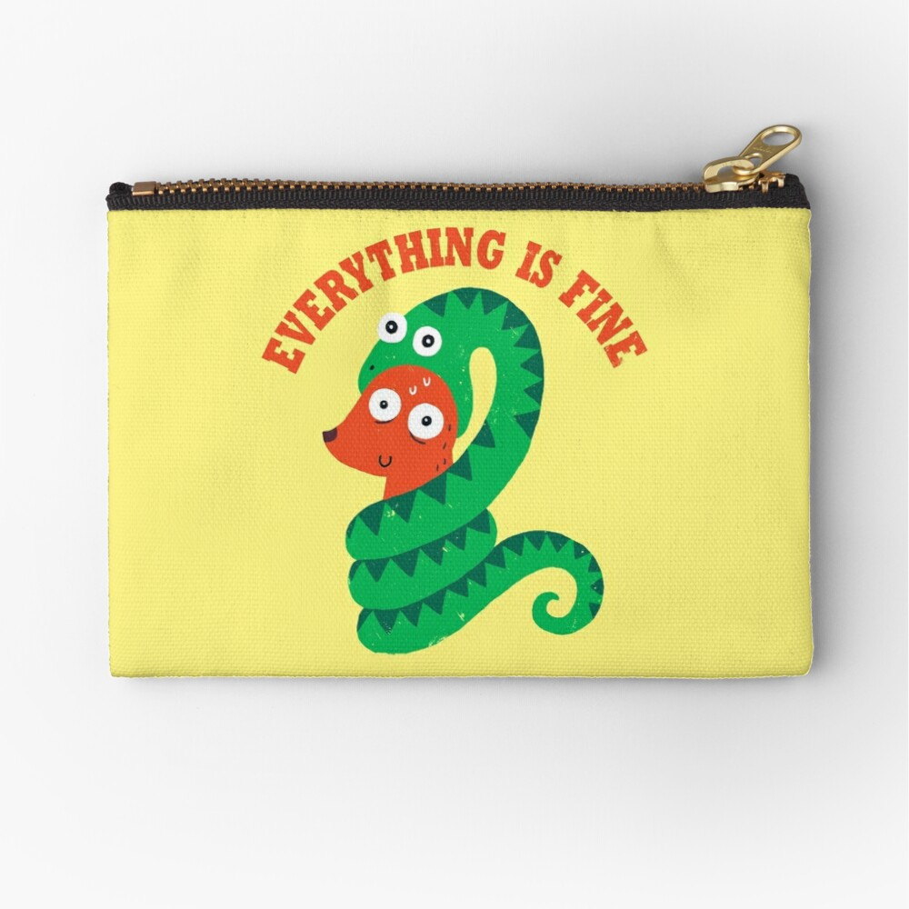 Everything Is Fine Zipper Pouch