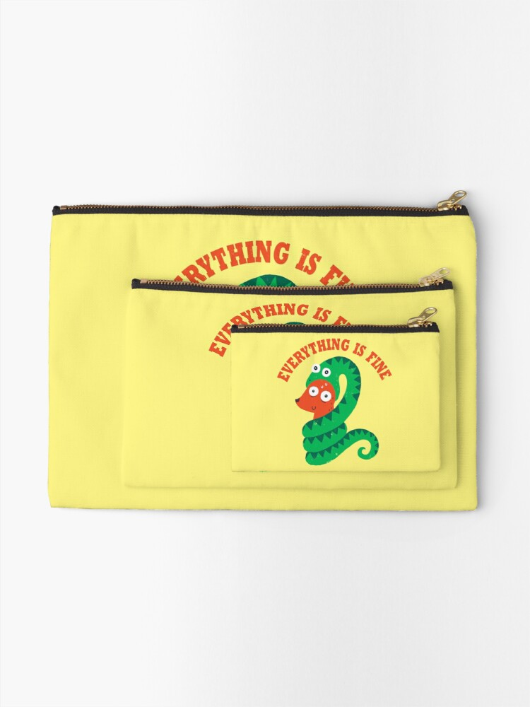 Alternate view of Everything Is Fine Zipper Pouch