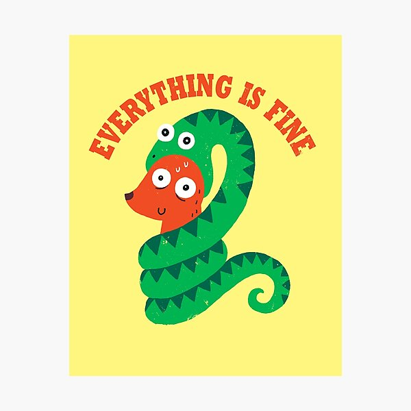 Everything Is Fine Photographic Print