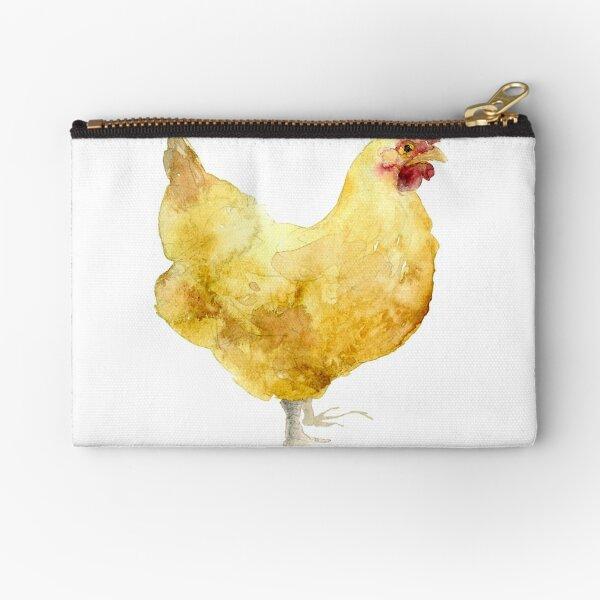 Watercolor Chicken Hen Farm Zipper Pouch Perfect for Egg Money!