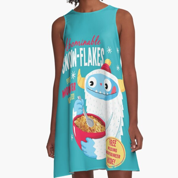 Abominable Snowflakes A-Line Dress