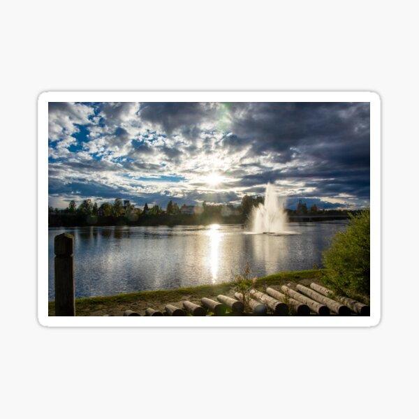 Elverum am Fluss Glomma in Norgwegen / Skandinavien Sticker