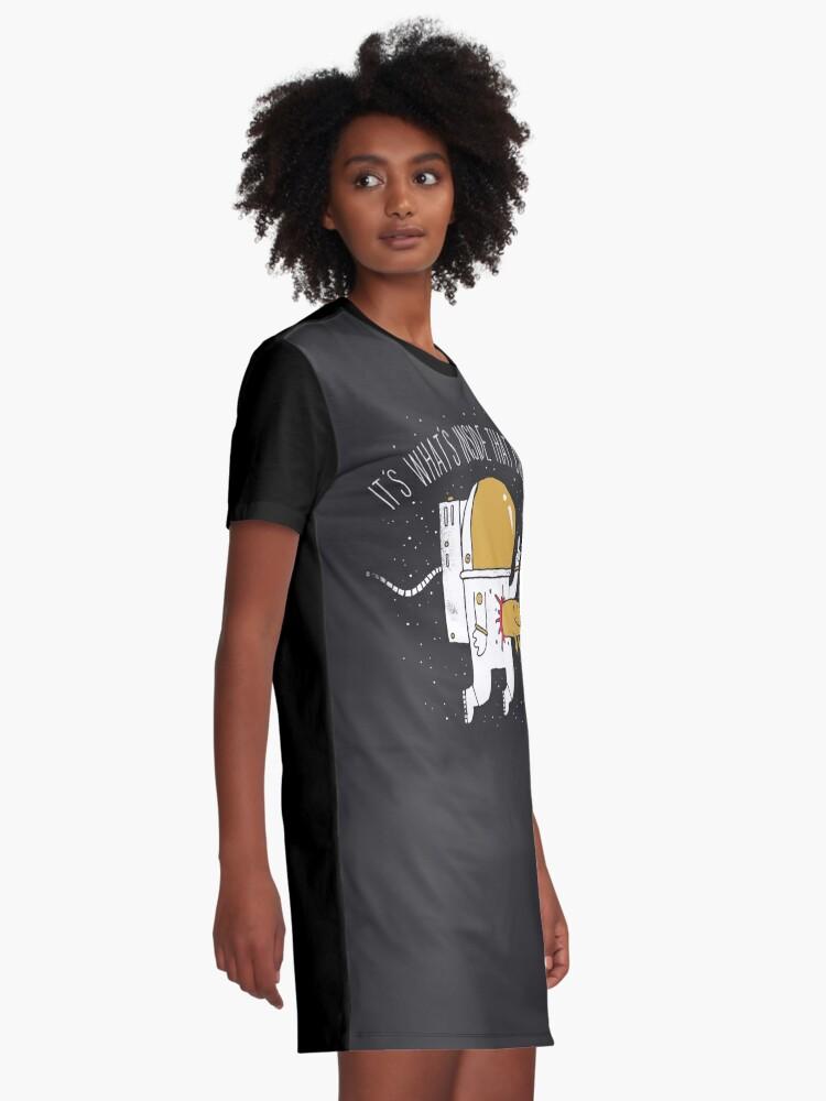 Alternate view of Space Sucks Graphic T-Shirt Dress