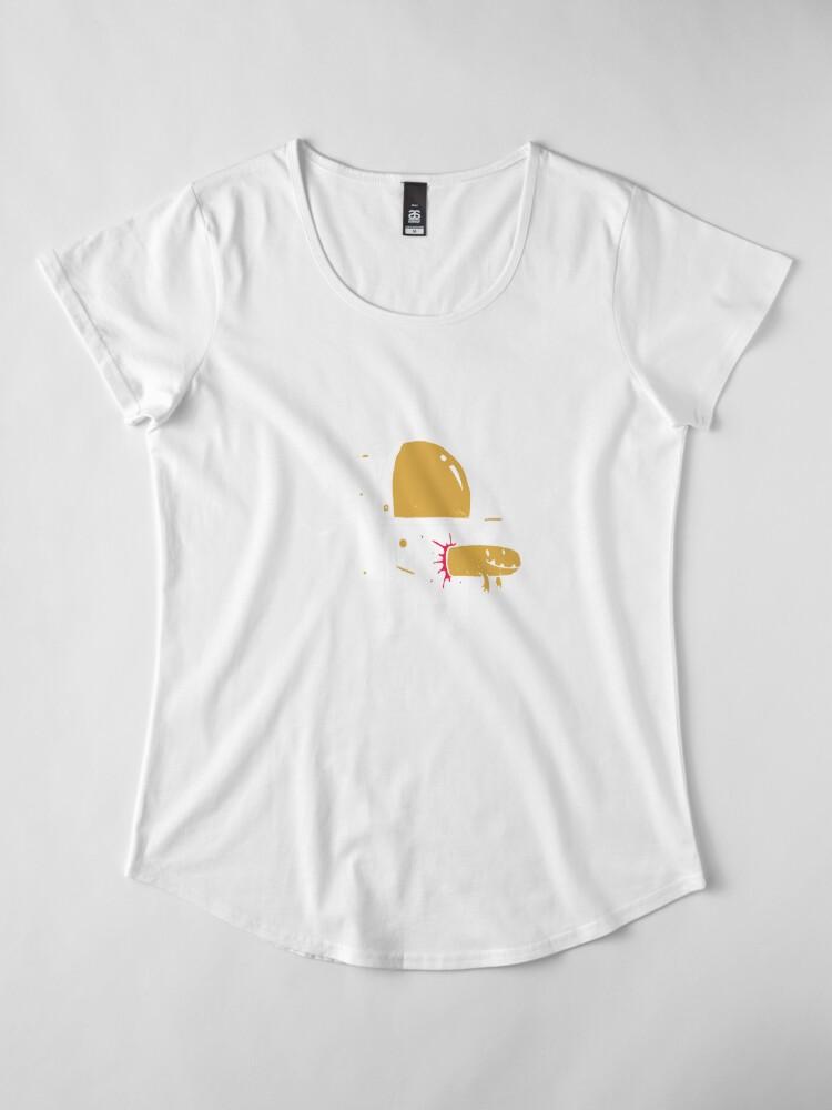 Alternate view of Space Sucks Premium Scoop T-Shirt