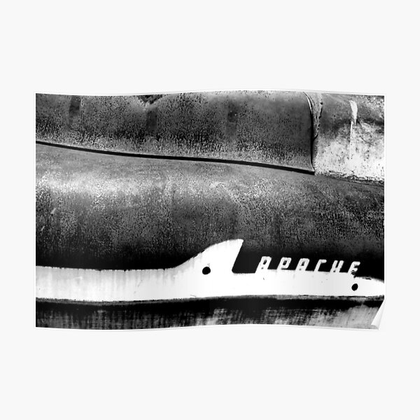 Chevrolet Apache Black & White Poster