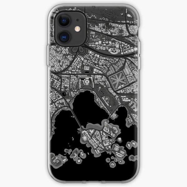 Zerrissener Stadtplan iPhone Flexible Hülle