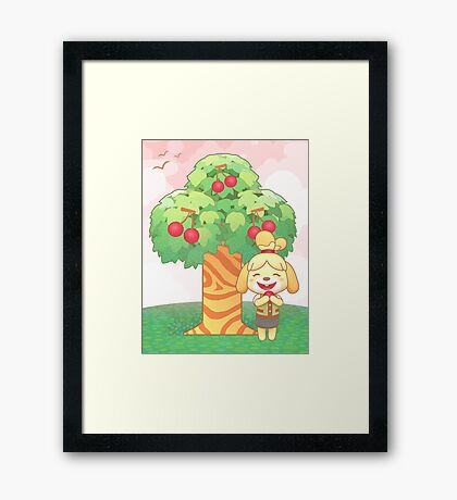 Isabelle & Cherries Framed Print