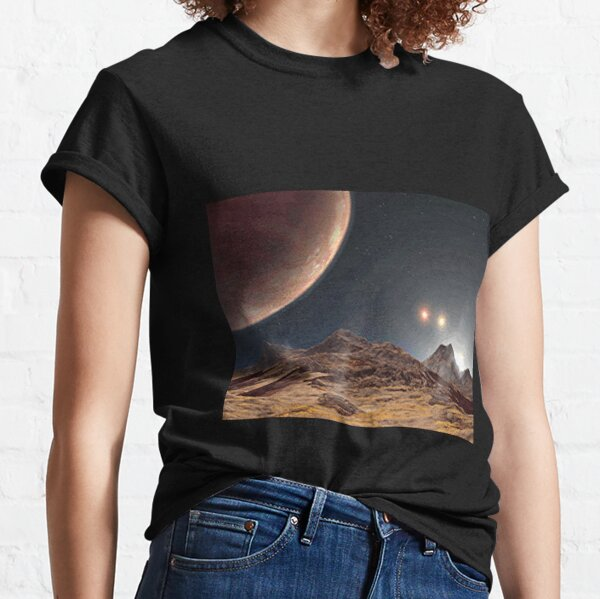 Cliff Steep Star Meteor Child Short Sleeve Fashion T-Shirt of Boys and Girls
