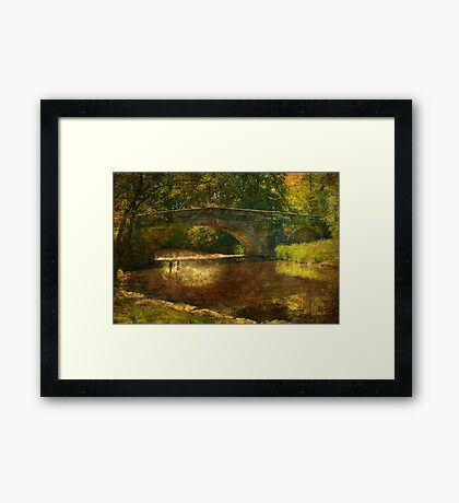 A Country Bridge Framed Print
