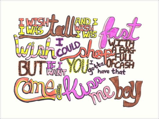 I Wish Lyric Art by iamofirg