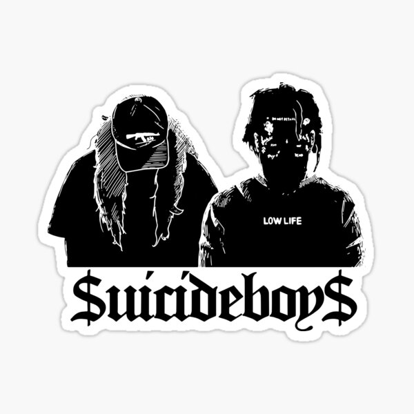 SuicideboyS Art Outlines Sticker