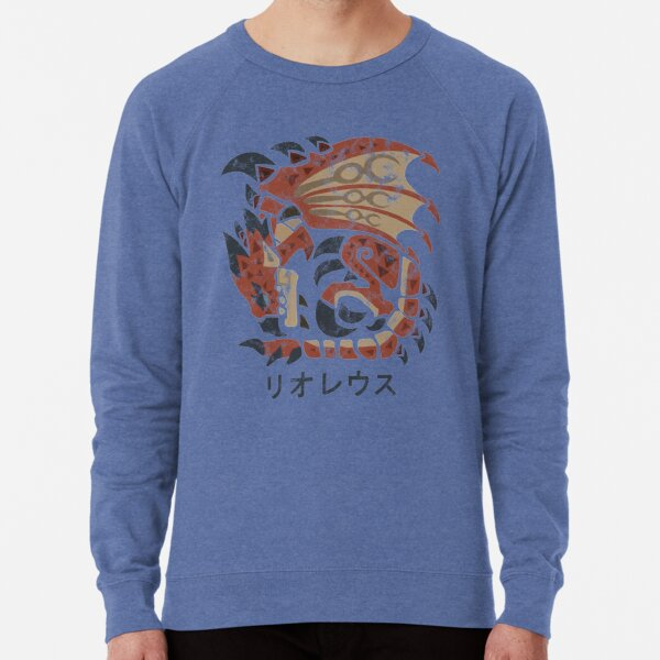 Monster Hunter World Rathalos Kanji Icon Lightweight Sweatshirt