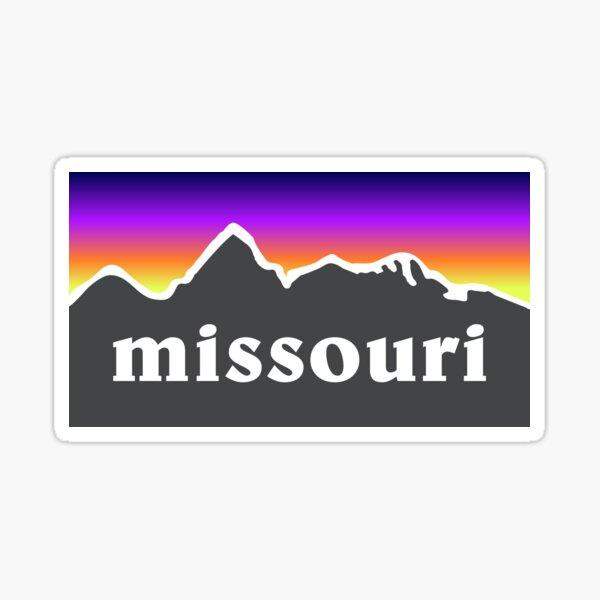 Missouri Mountains Outdoor Hiking St. Louis Blues Kansas City State Flag Sunset Gift Ideas Sticker