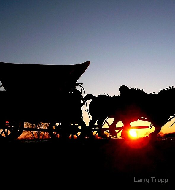 Riding into the Sunset... by Larry Trupp