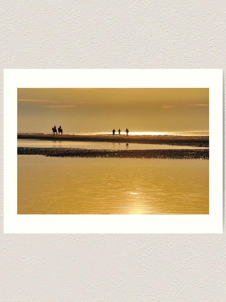 Alternate view of Seashore sunset Art Print