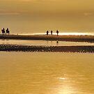 Seashore sunset by Adri  Padmos