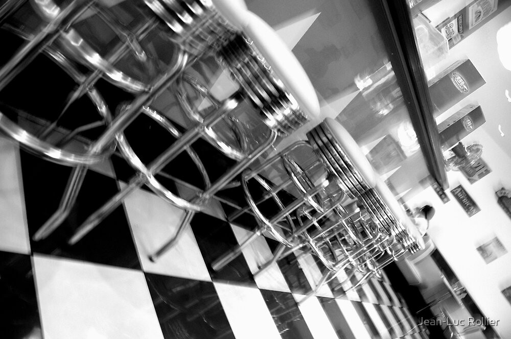 Paris - American diner. by Jean-Luc Rollier