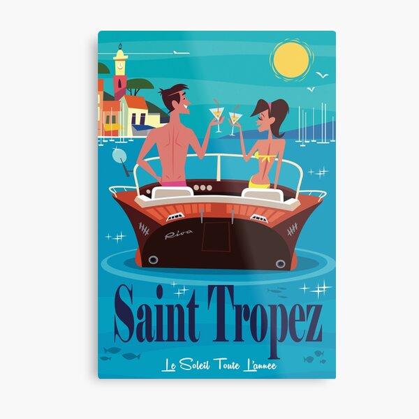 St Tropez Poster Metal Print