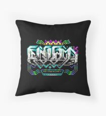 Enigma 1/2 Software Logo design by Smooth of Fuel Throw Pillow