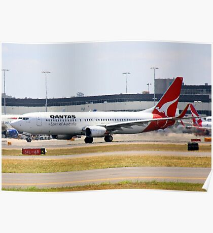 Qantas Boeing 737-800 Poster