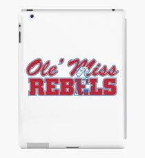 OLE MISS WITH EMBEDDED MASCOT iPad Case/Skin