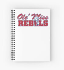 OLE MISS WITH EMBEDDED MASCOT Spiral Notebook