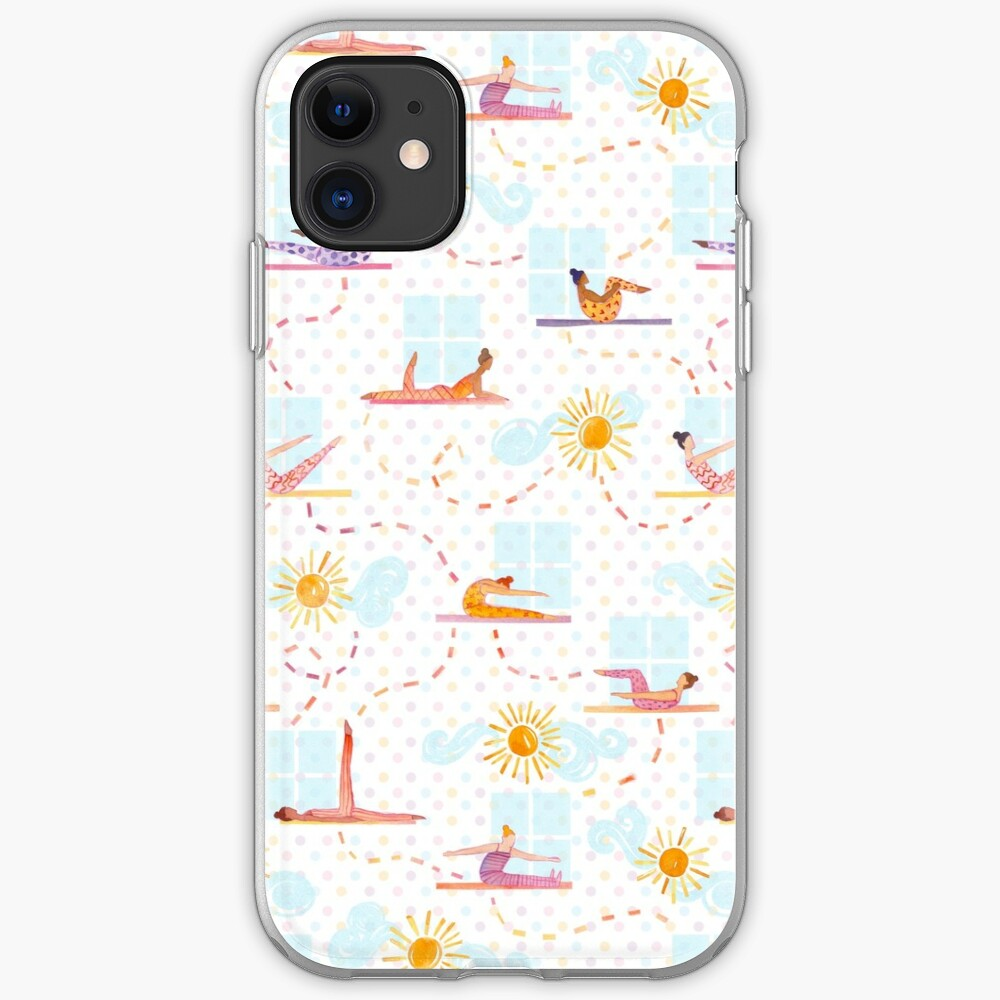 Morning Pilates - Watercolor iPhone Case & Cover