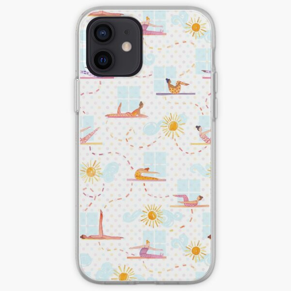 Morning Pilates - Watercolor iPhone Soft Case
